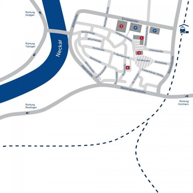 Plan Zentrum Nürtingen